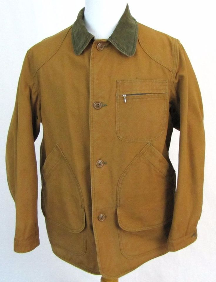 Ll Bean Vintage Hunting Jacket Medium Game Bag Canvas Barn