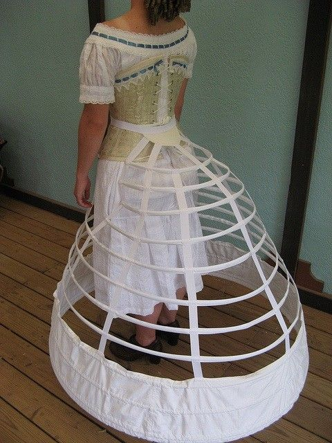 This listing is for an entire, made to measure, Mid-Victorian (1850-1865) Underwear Trousseau. The trousseau includes Camisole and Bloomers, Corset,