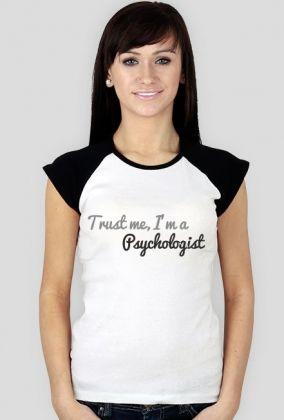 Trust me, I'm a psychologist - czarne rękawki, damska, 47,00 zł, #psychologia, #psychology, #psychopraca, #cupsell, #gifts, #prezenty, #trustme