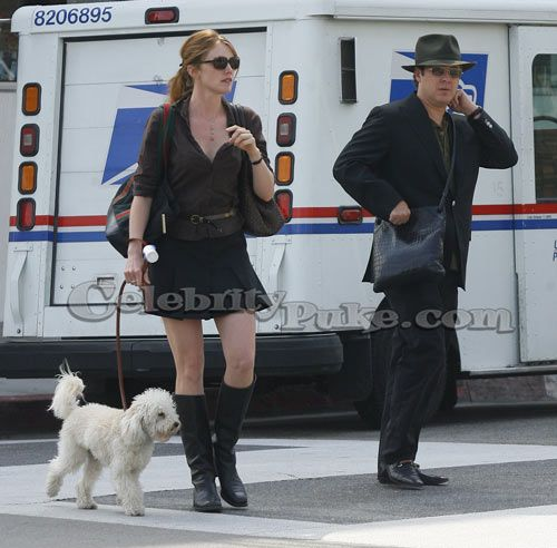 James Spader, wife Leslie, Dog.