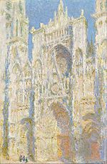Claude Monet; La Cattedrale di Rouen. Facciata ovest, al sole; 1892; olio su tela; National Gallery of Art, Washington.