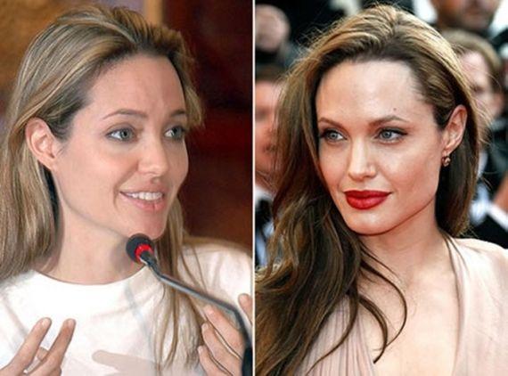 Resultado de imagem para angelina jolie sem maquiagem