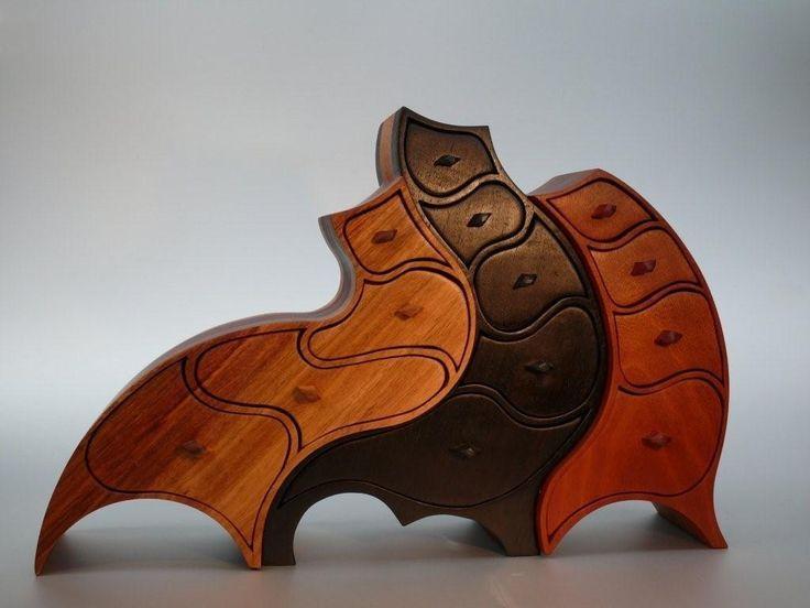 "*Wood Sculpture - ""Jewelry Box""  by André Dorais"
