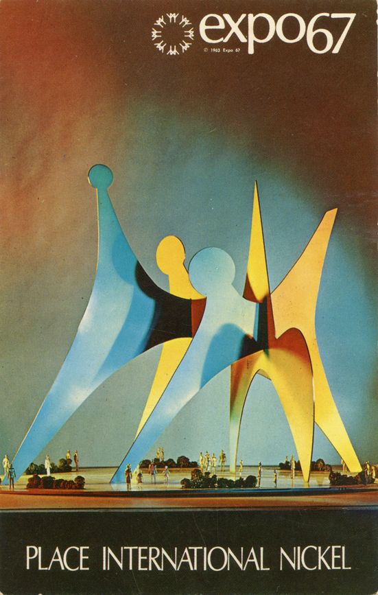 Expo 67, Montreal, Canada. Alexander Calder's abstract sculpture.