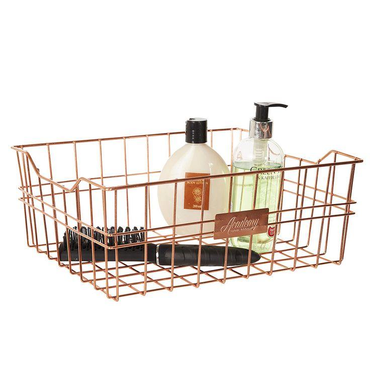 Howards Storage World   Orwell Rectangular Basket - Copper #howardsstorage #christmaswishlist