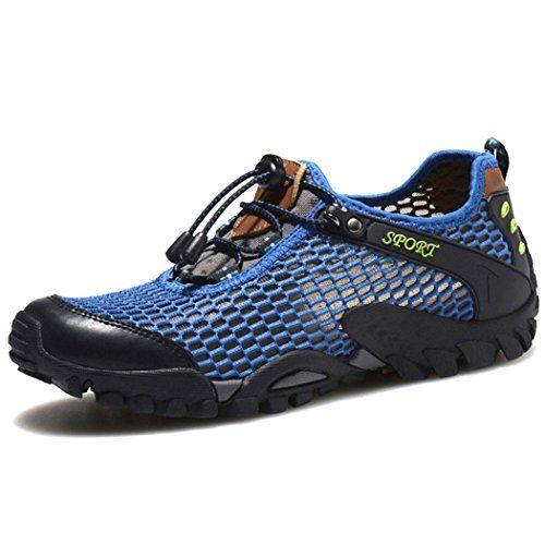 Hishoes - Sandalias de Material Sintético para hombre, color azul, talla 39 EU / China Size 40