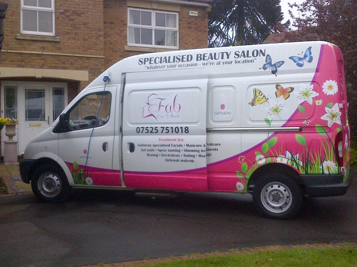 Mobile beauty van conversion example. Sold in May 2013 to a mobile beauty therapist in Ireland. Visit us at www.salononwheels.co.uk
