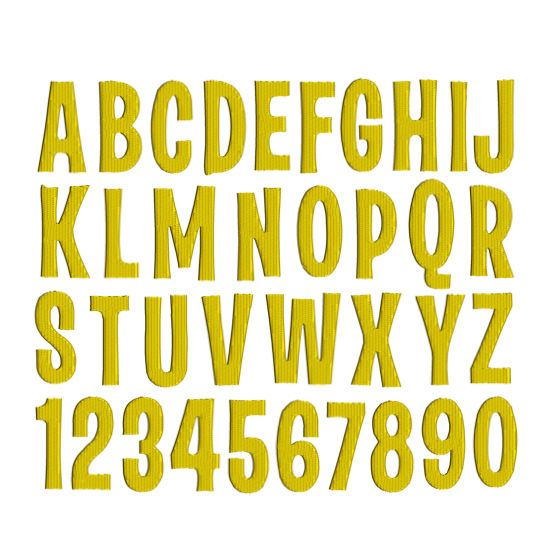 DESPICABLE MINIONS Font and Numbers Monogram Alphabet 2 Sizes Machine Embroidery