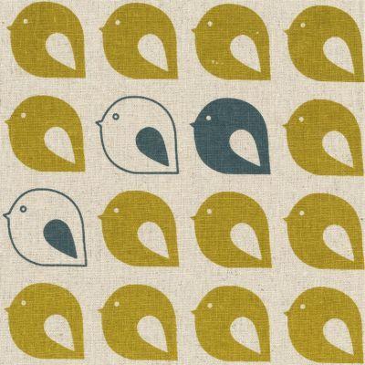 Kristen Doran Mollybirds Mustard & Grey