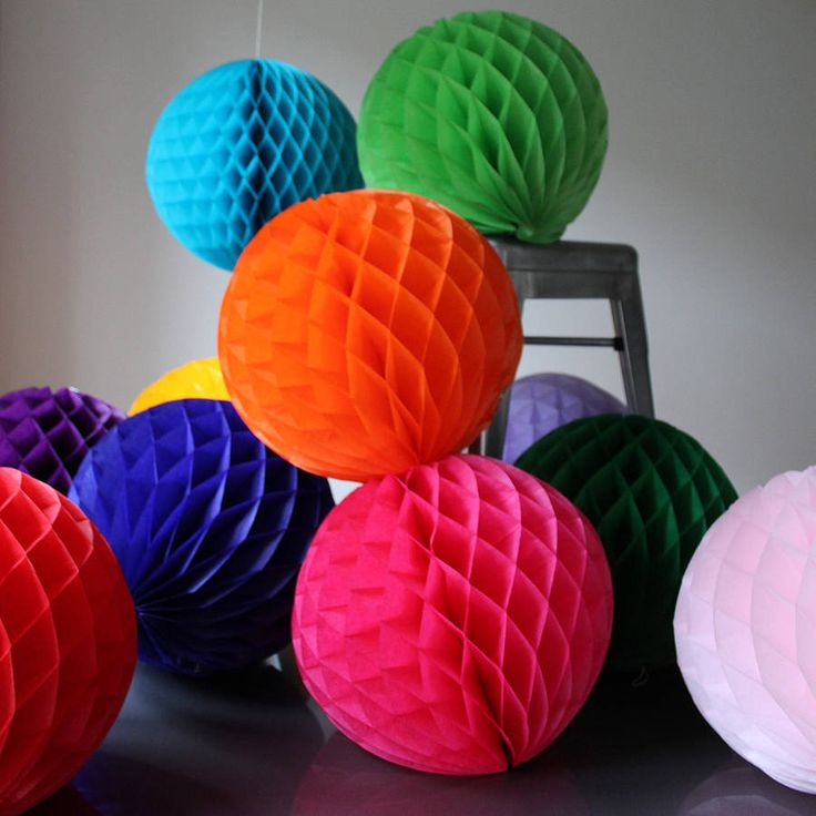 paper luxe 30cm honeycomb tissue balls by pearl and earl | notonthehighstreet.com