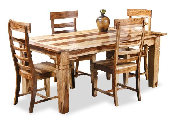 American Furniture Warehouse -- Virtual Store -- Natural 5 Piece Dining