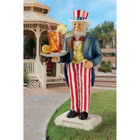 Uncle Sam Yankee Doodle Dandy Butler Pedestal Sculptural Table