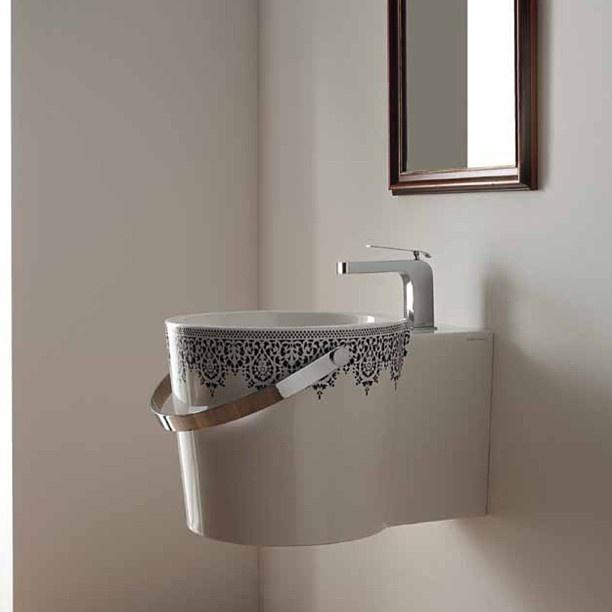 #Kypriotis #Design #Innovation #Bathroom #Tiles Amazing washbasin hanging on the wall