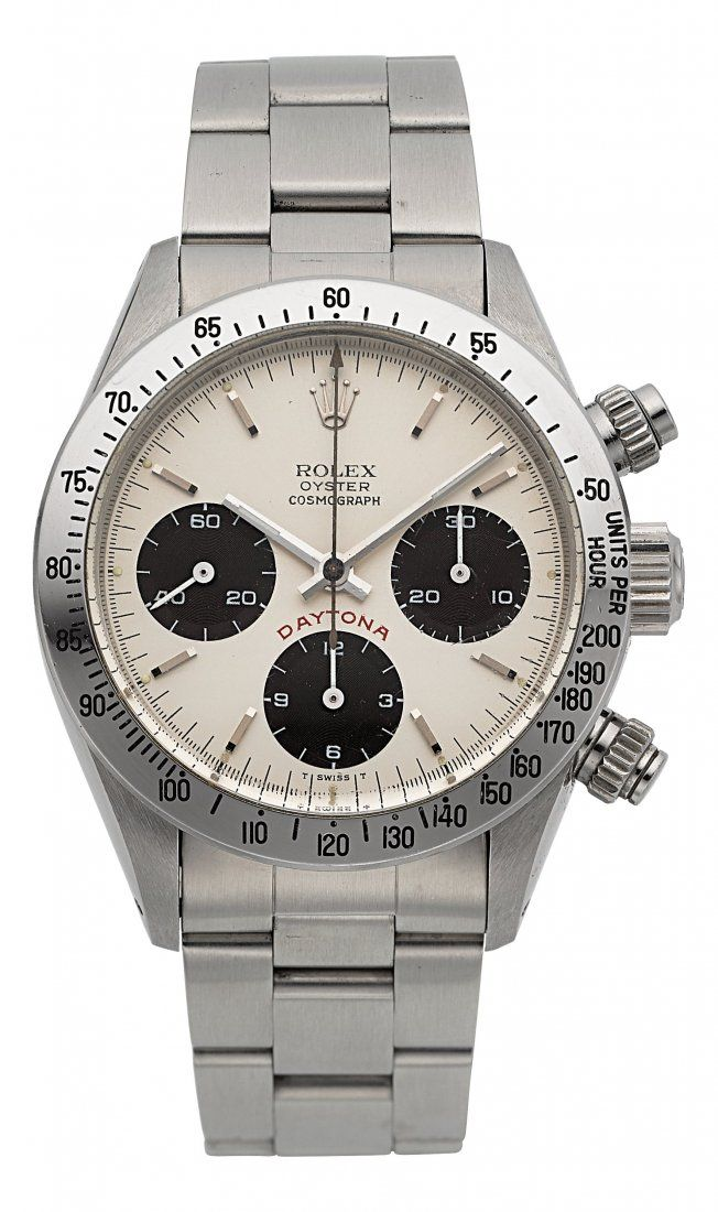 Lot: 54204: Rolex Very Fine Ref. 6265/6263 Steel Cosmograph , Lot Number: 54204, Starting Bid: $26,000, Auctioneer: Heritage Auctions, Auction: October 27 Watches & Fine Timepieces - #5279, Date: October 27th, 2016 UTC
