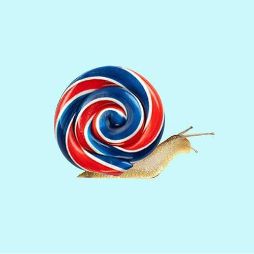 Slow candy, lollipop snail, design