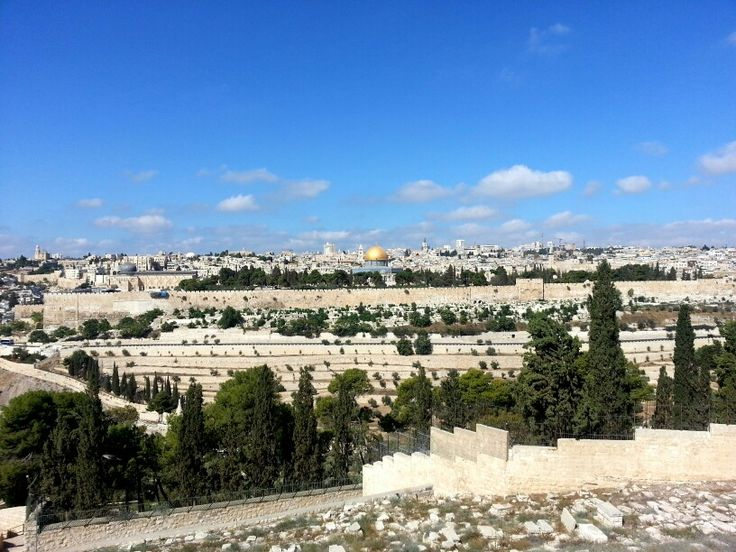 Jerusalem seen from the Mt of Olives