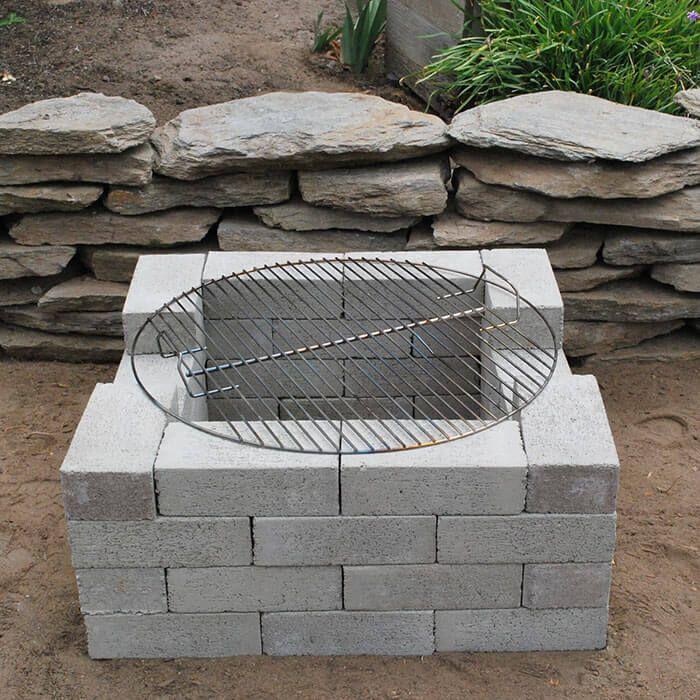 17 Best Ideas About Cinder Block Fire Pit On Pinterest