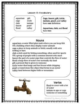 This is a study/activity guide to go along with the 2nd grade Wordly Wise text.  For each lesson there is a study page and at least one activity page.  The study page is organized so that students can easily see what part of speech each word, how multiple meaning words can have different parts of speech, and the definitions of the words.