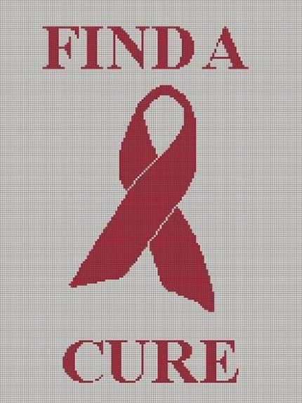 CROCHET+PATTERN+AIDS+RIBBON+AWARENESS+FIND+A+CURE+AFGHAN+GRAPH+E-MAILED.PDF