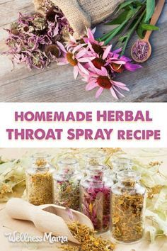 homemade herbal throat spray