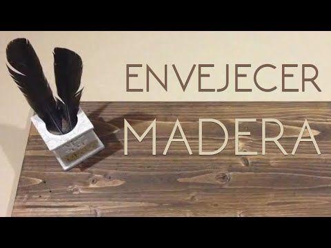 Envejecer madera, como envejecer madera, Envejecer mueble, DIY, betún de judea - YouTube