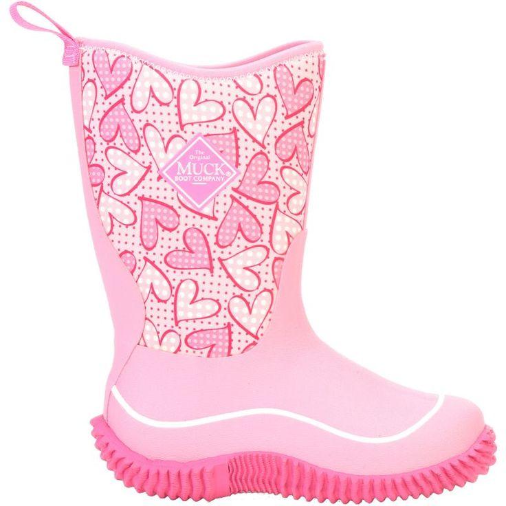 Muck Boot Kids' Hale Insulated Rain Boots, Kids Unisex, Size: 13K, Pink