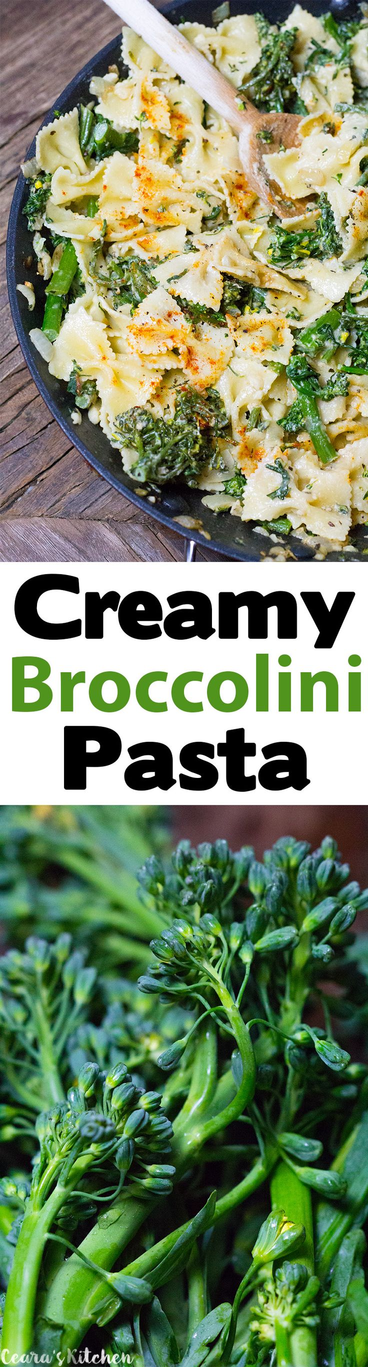 Creamy Broccolini Pasta | Recipe | Pasta Dinners, Family Meals and ...