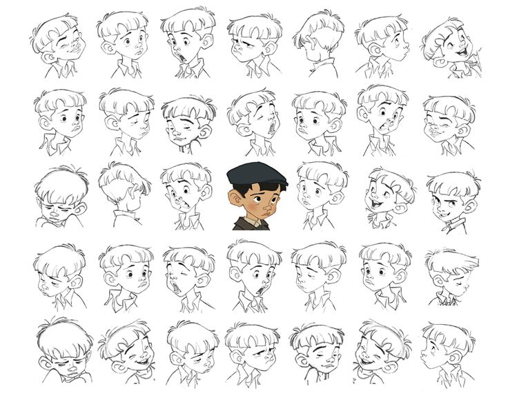 """Nino"" Expressions Sheet by Borja Montoro* Giacomo's Secret 
