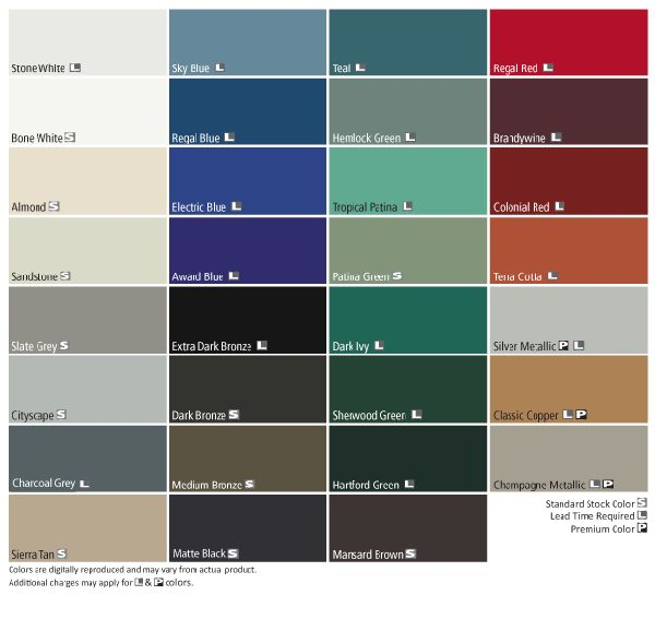 residential tin roof colors | ICE FREE Zone Color Options tropical patina tin roof