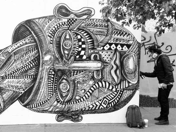 Zio Ziegler Mural Takes Shape at Grove and Divis