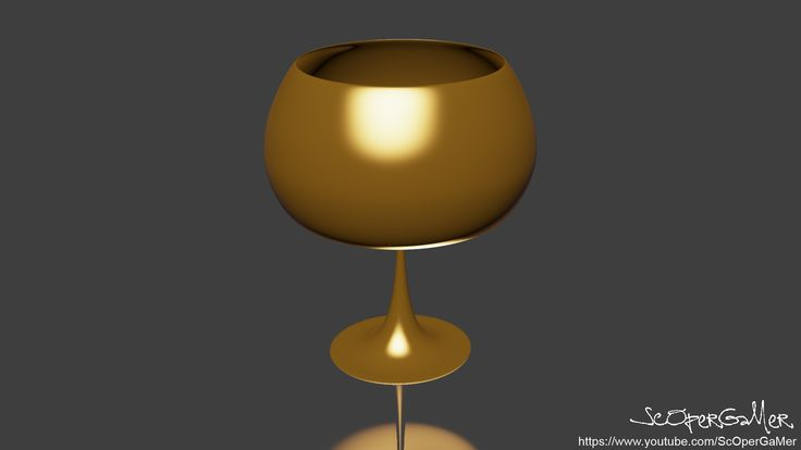 Old gold goblet with 3Ds MAX.