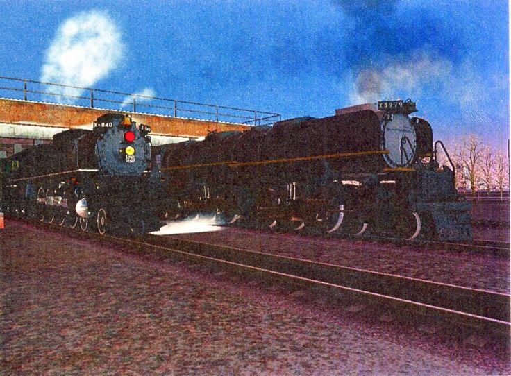 Steam Locomotives Postcard from Brendan in De Sotot, Missouri, USA