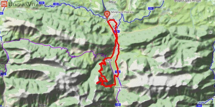 [Pyrénées-Atlantiques] Col de la Courade par le Plané d'Assiste Le départ peut se faire depuis Bielle, la montée jusqu'au Plané d'Assiste n'est pas trop dure et permet de se chauffer les cuisses.  Après le Plané, une petite portion dans les bois sera peu roulante surtout si c'est gras.  Pour arriver au col, il y aura un peu de pourcentage.