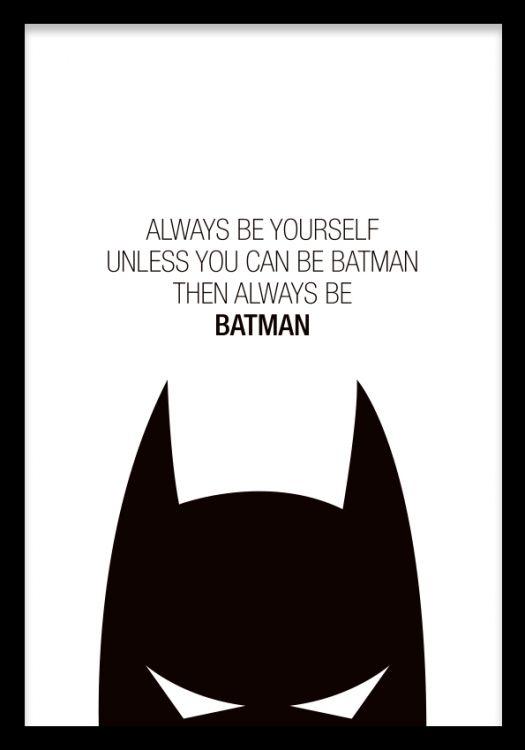 Textposter med Batman