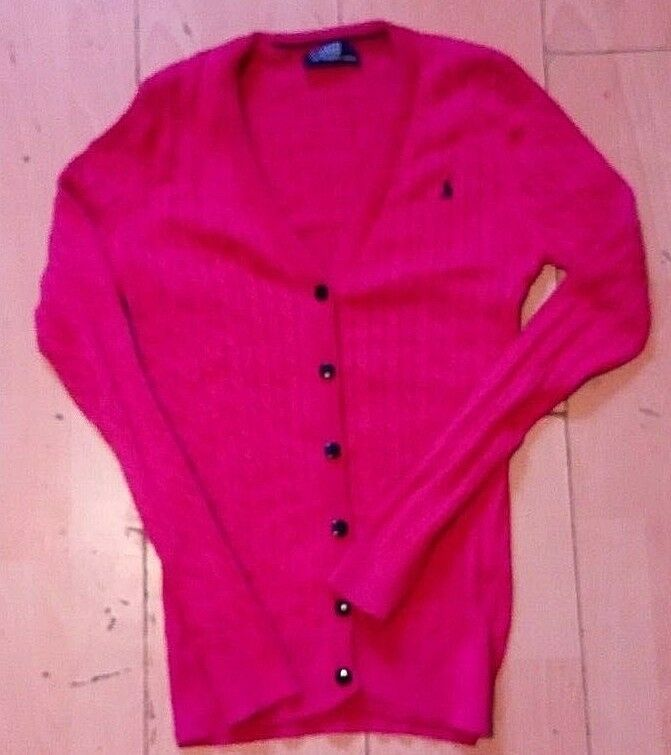 Polo By Ralph Lauren Ladies Neon Pink Cable Knit Cotton Cardigan Blazer 10 Uk Fashion Clothing Shoes Accessories Wome With Images Cotton Cardigan Knit Cotton Cardigan