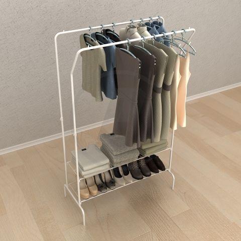 Whitmor Slat Wood Wardrobe Home & Kitchen