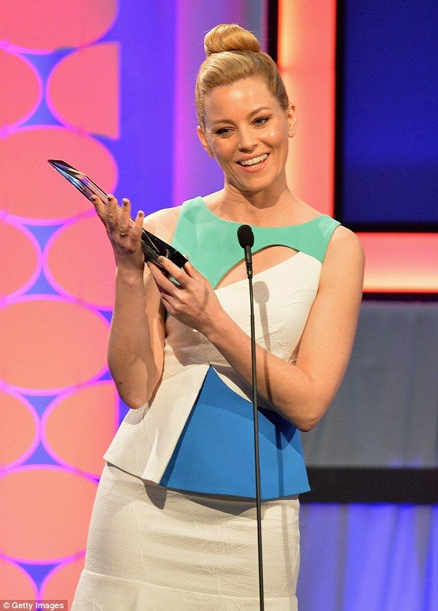 Mercy me: Elizabeth Banks' film Love & Mercy won the Best Time Capsule Award at the AARP 15th Annual Movies For Grownups Awards at the Beverly Wilshire Hotel in Beverly Hills on Monday.
