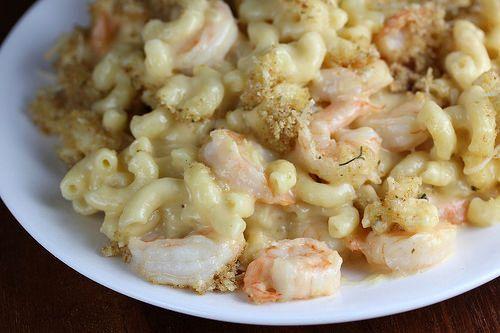 Shrimp mac and cheese from Bubba Gump Shrimp Co. Restaurant