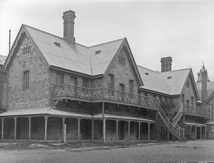 Office, School room and relieving officer's house of Destitute Asylum 1932. (Courtesy of The History Trust of South Australia.