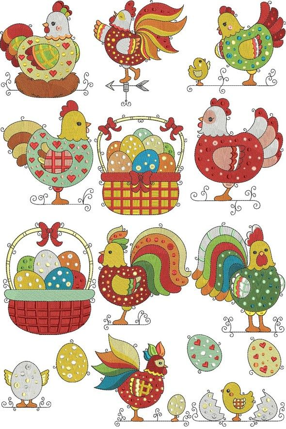 if only chickens would look like this, might not eat them. but these look yummy to...... HERMOSOS DISEÑOS