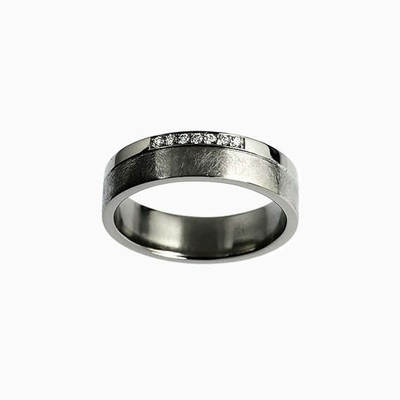 New Titanium Duro Ring With Diamonds 890 00 Duro Wedding Bands Combines Wide Band Witt Wh Men Diamond Ring Titanium Wedding Band Palladium Wedding Band