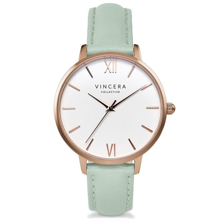 This Rose Gold + Mint watch is SO perfect for any spring outfit! Seriously need this in my closet right now!