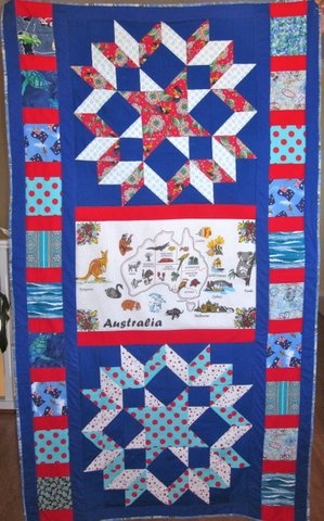 My 7th quilt for Aussie Hero Quilts (and laundry bags)
