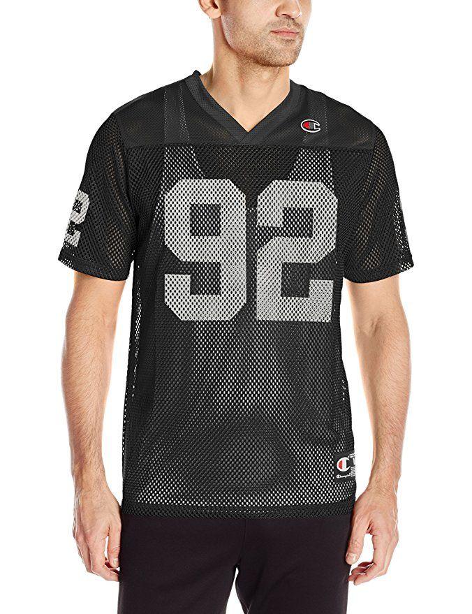 reputable site 7d560 9c7a1 Champion LIFE Men's Reflective Football Jersey, Black, X ...