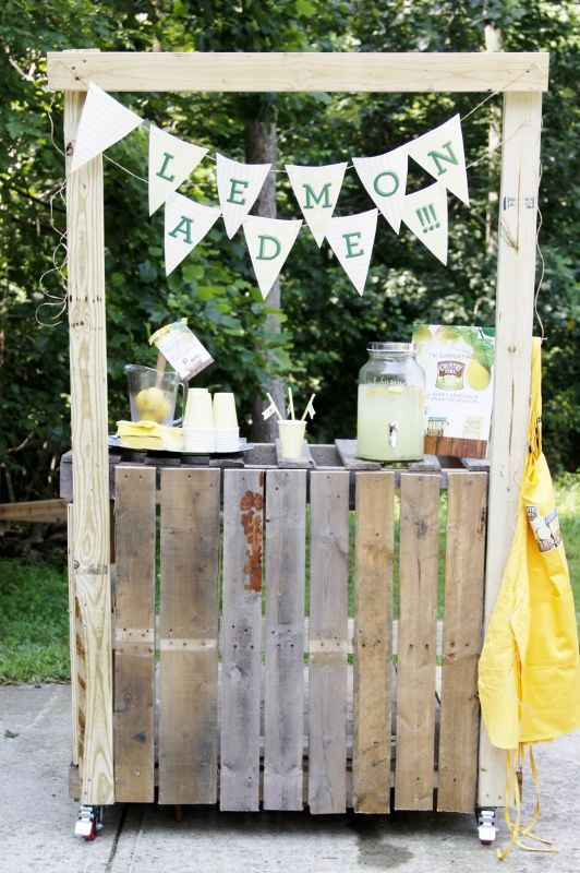 52 best lemonade carts tables and stands images on for Rustic lemonade stand
