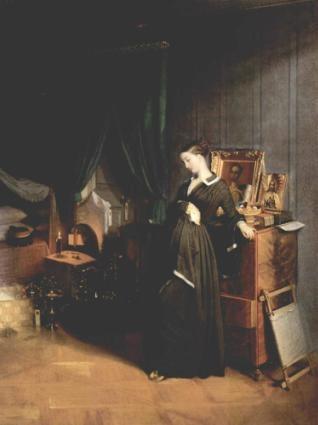 < 젊은 과부 >, 파벨 안드레예비치 페도토프, 1851.