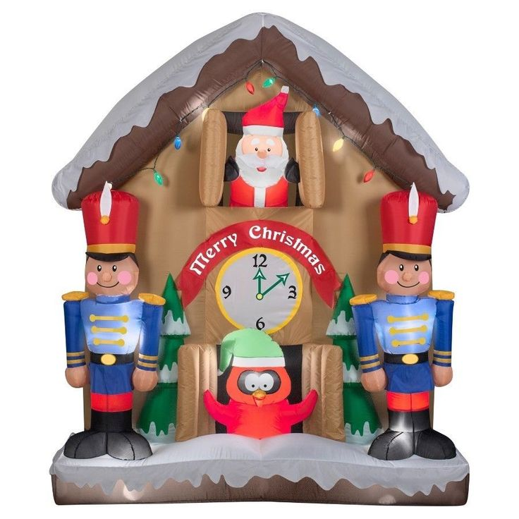 #Outdoor #Inflatable #Decoration #Yard 6.5ft Inflatable #Animated #Santa #Clock New