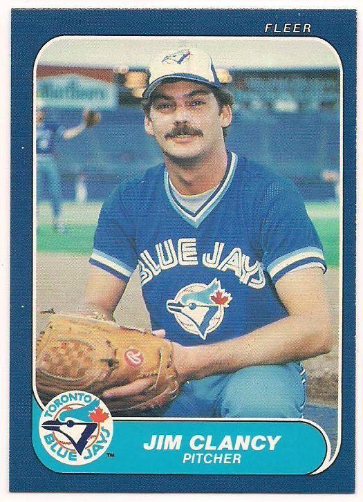 1986 Fleer Baseball Card #56 Jim Clancy Pitcher Blue Jay's NM/MINT Free U S Shipping SJG