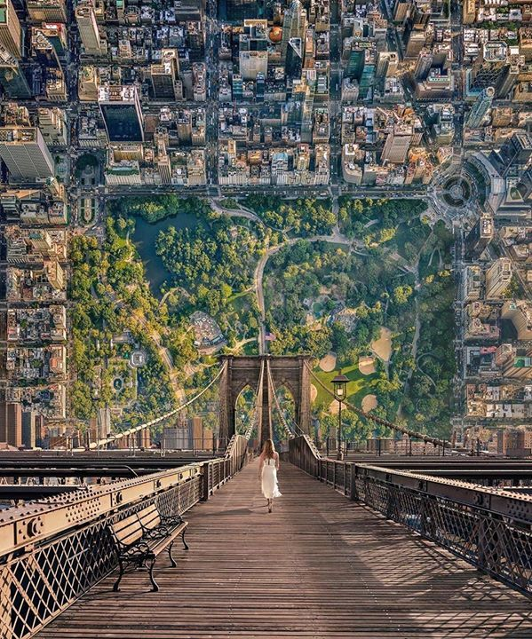 Upside Down Landscape Art In 2020 United Airlines Landscape Perspective Photography