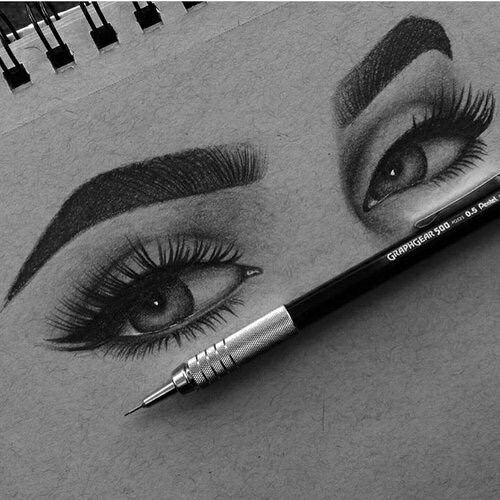 Imagem de eyes, art, and drawing